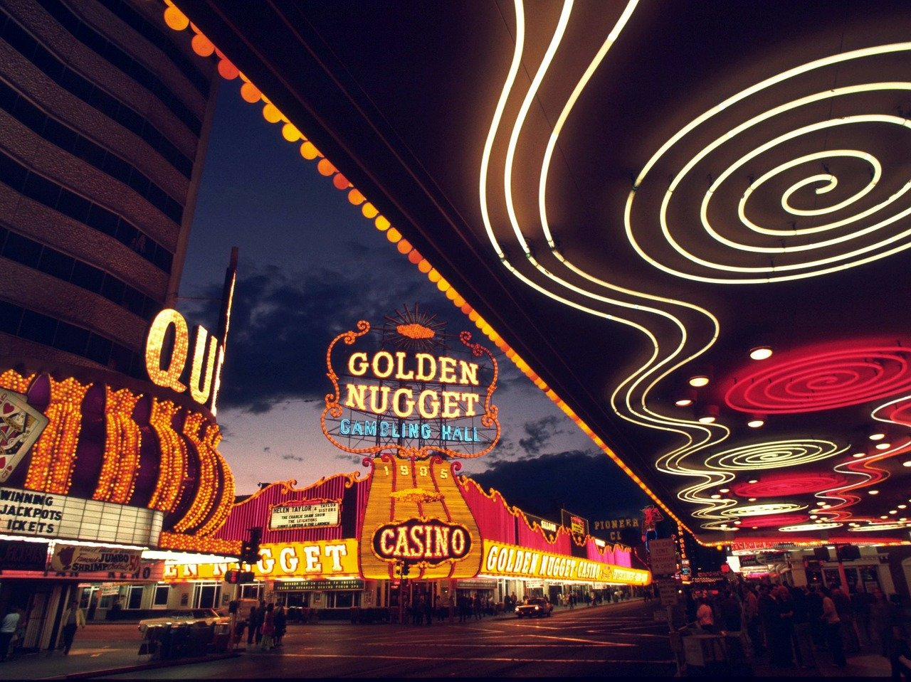 Fremont Street in downtown Las Vegas.
